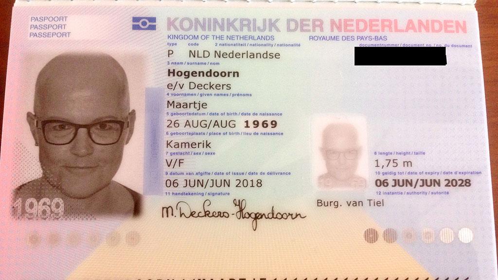 kaal paspoort chemo