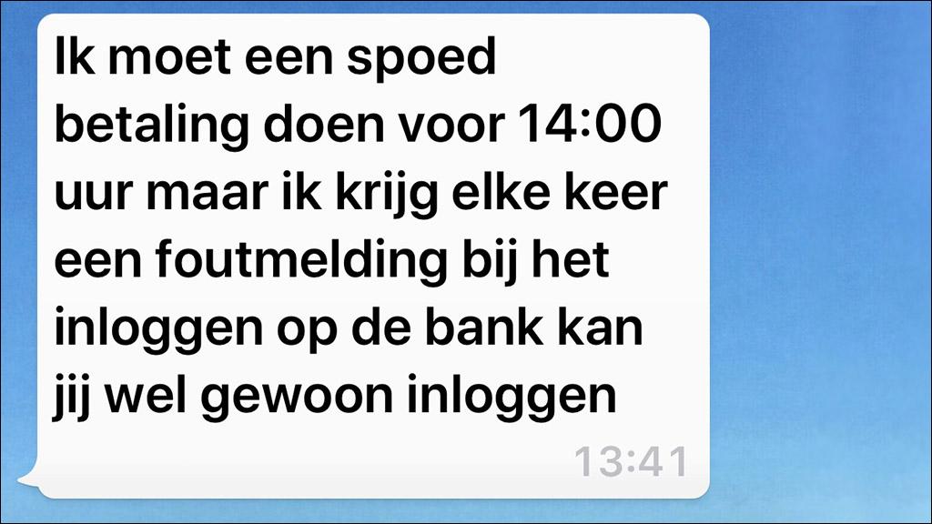 whatsapp oplichting