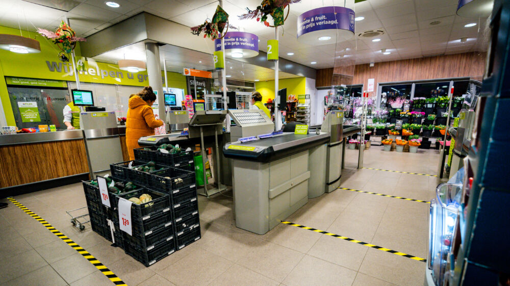 Corona Supermarkt