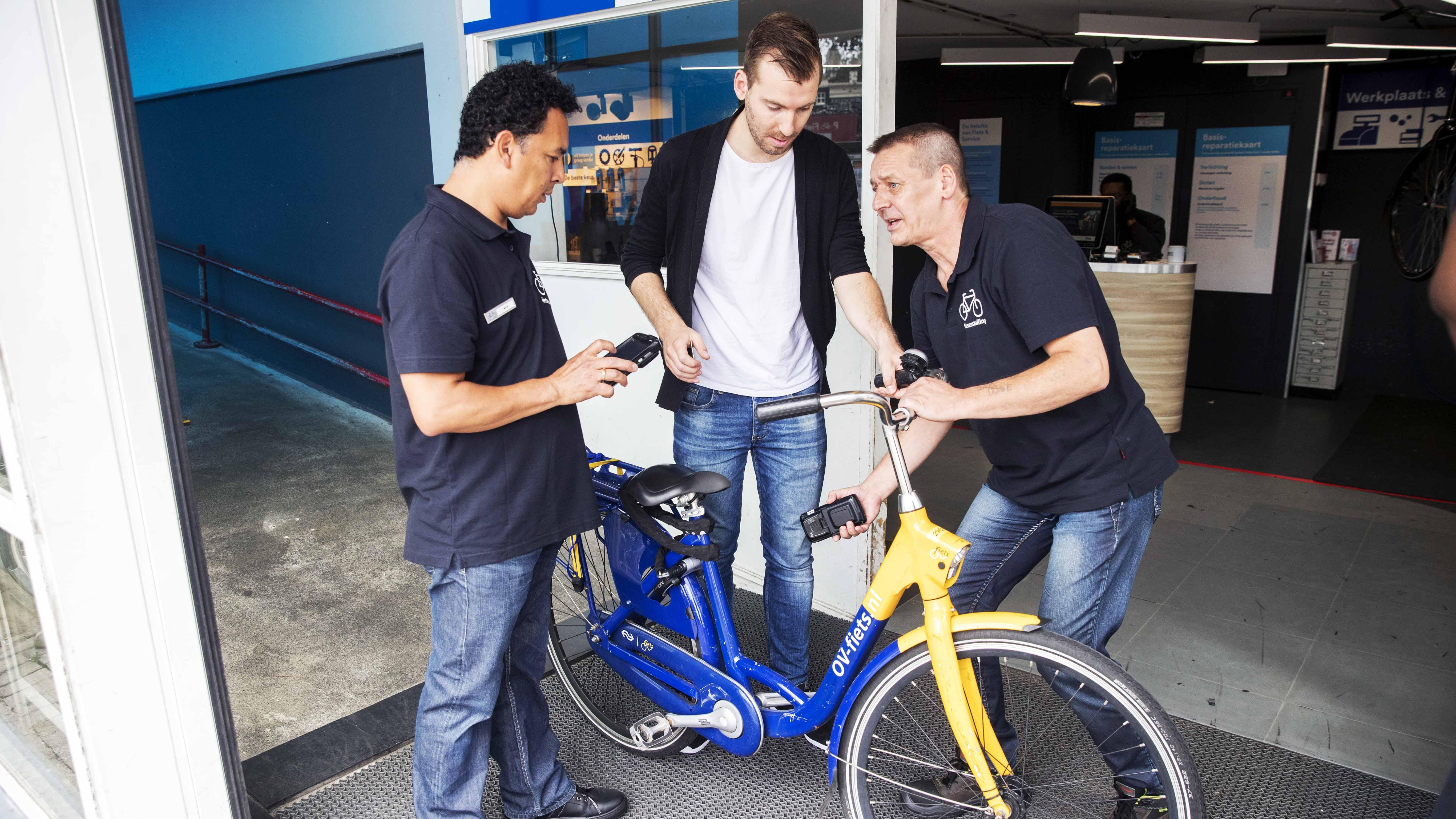 OV-chipkaart als fietssleutel