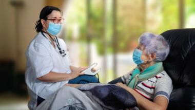 bezoek in verpleeghuis