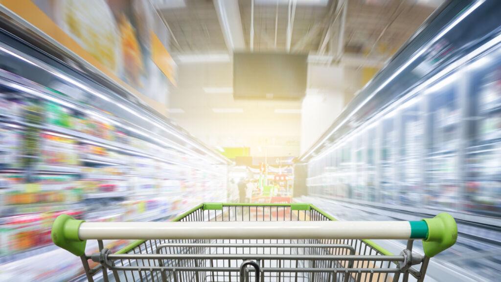 eten te kort supermarkt