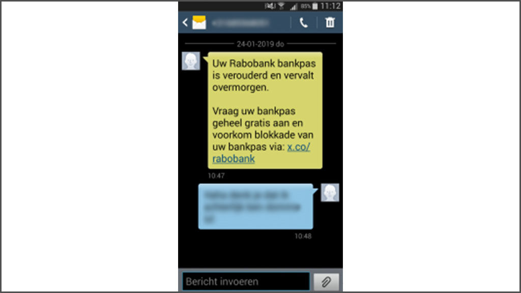 sms rabobank