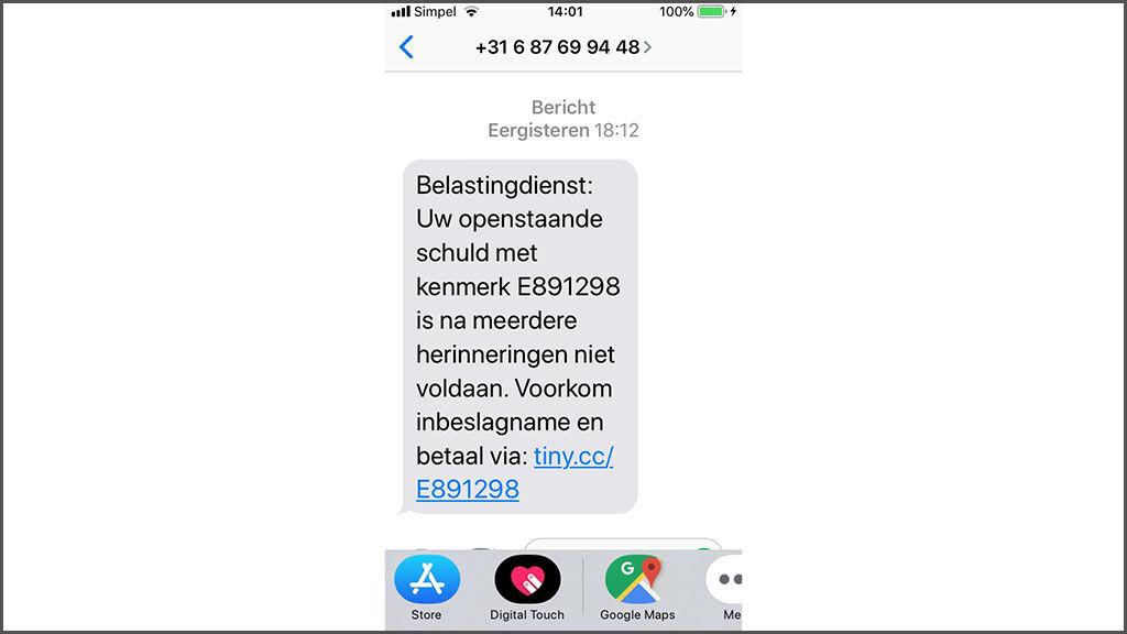 sms belastingdienst